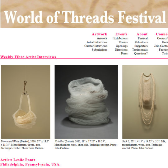 World of Threads Festival Weekly Artist Interview